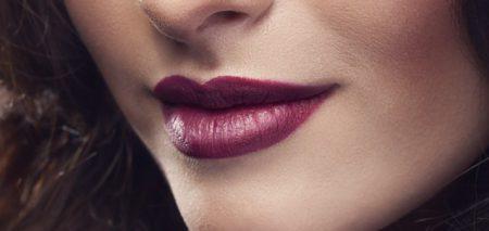 burgundy, lipstick