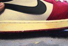 sol sepatu menguning