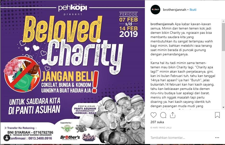 Brothers Jannah Kediri Present Beloved Charity