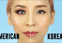 korea make up vs amerika make up