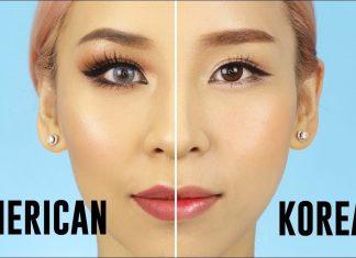 korea make up vs amerika make up